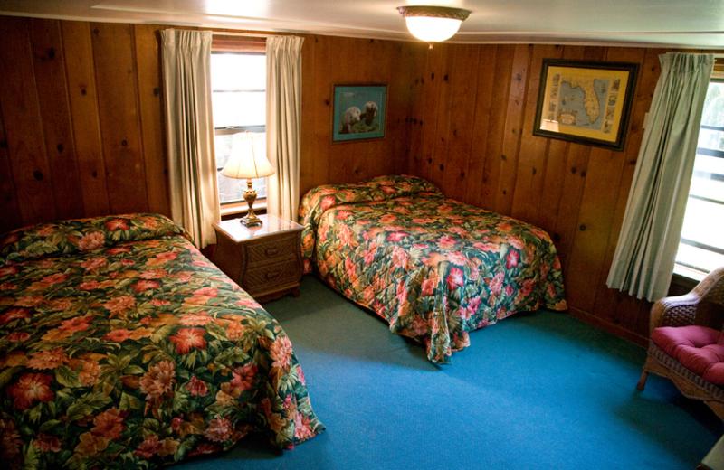 Guest bedroom at Rock Reef Resort.