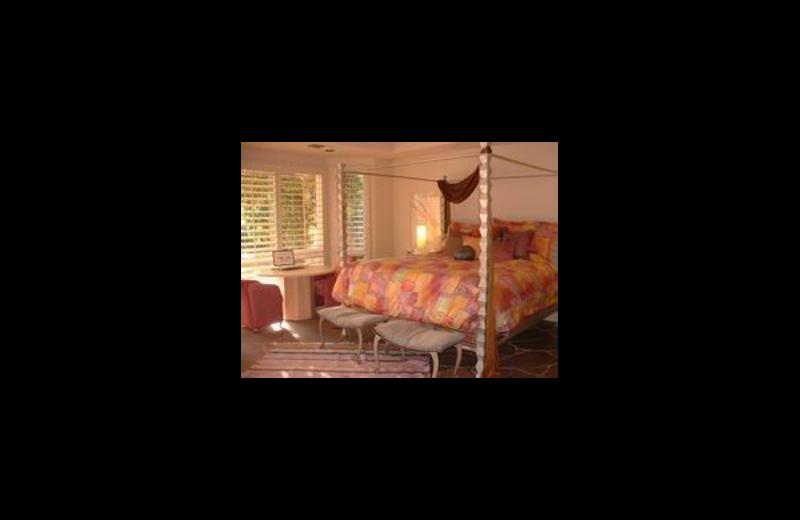 Vacation rental bedroom at Santa Rosa Realty.