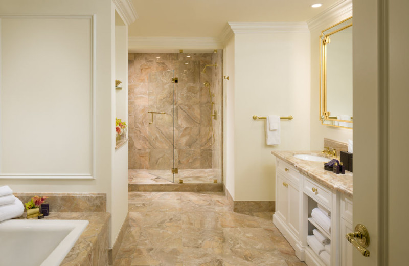 Guest bathroom at Trump National Doral Miami.