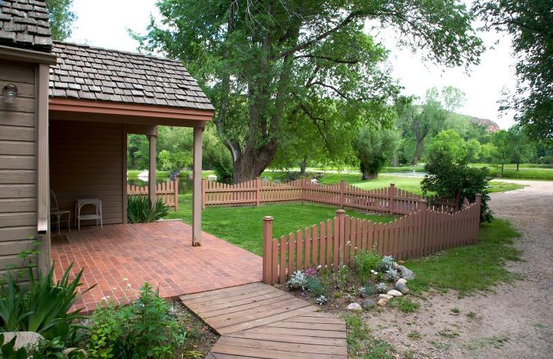 Cabin exterior at  Sylvan Dale Guest Ranch.