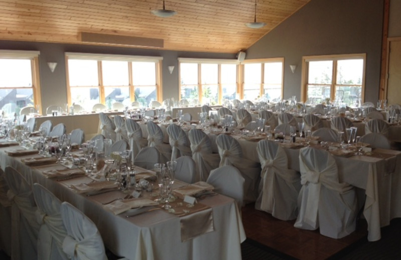 Wedding reception at Bluefin Bay.