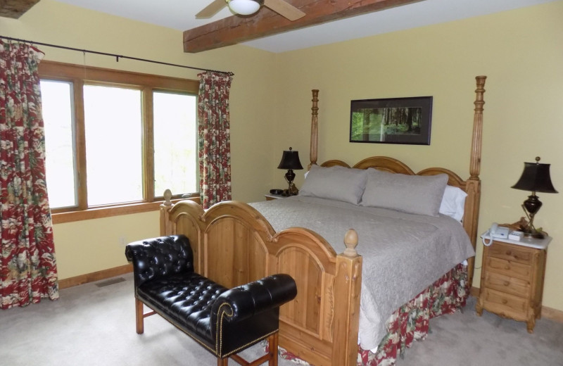 Guest bedroom at Garland Lodge and Resort.