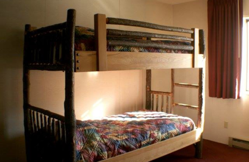 Bunk bed at Rushmore Express Inn & Family Suites.