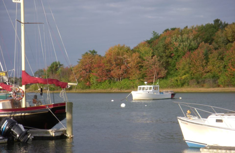 Boats in the Harbor at The Nonantum Resort.