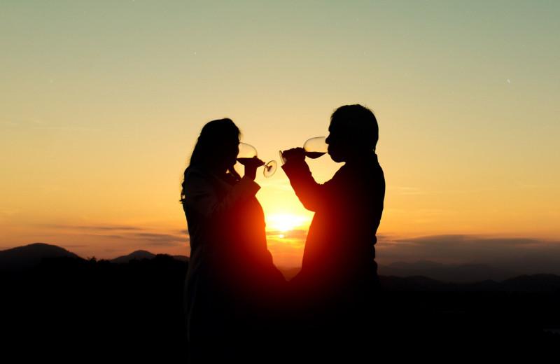 Couple at Natural Retreats Great Smoky Mountains.