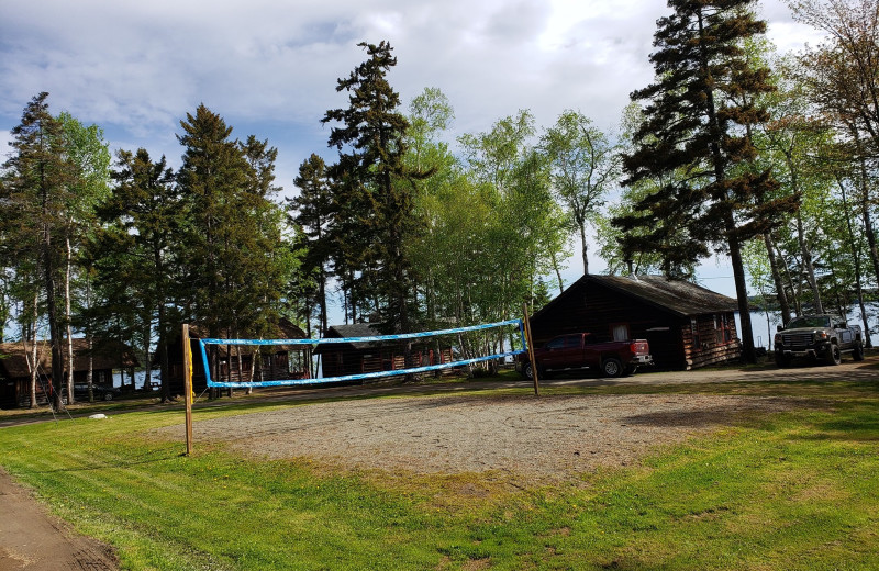 Volleyball court at The Birches Resort.