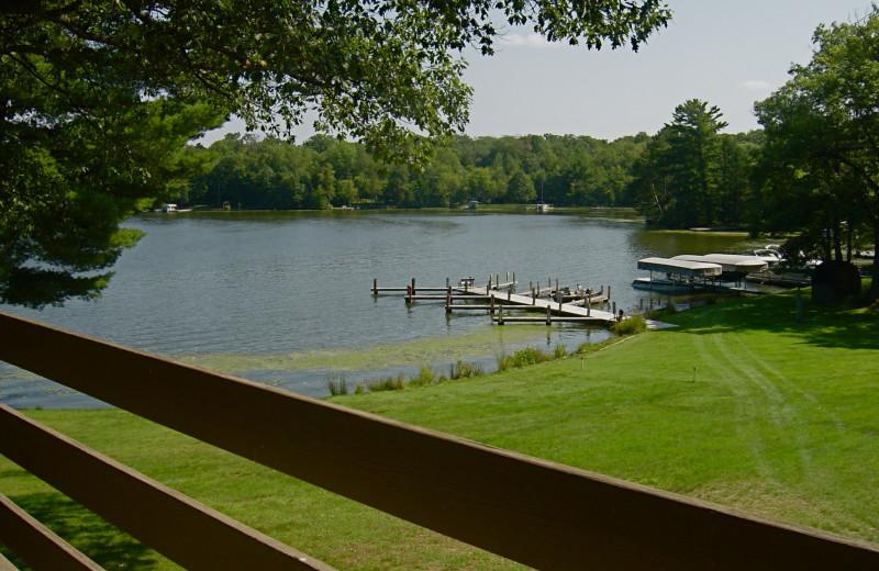 Lake view at Chanticleer Inn.