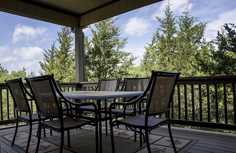 Rental deck view at Branson Vacation Houses.