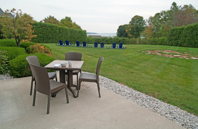Patio at Charlevoix Inn & Suites.