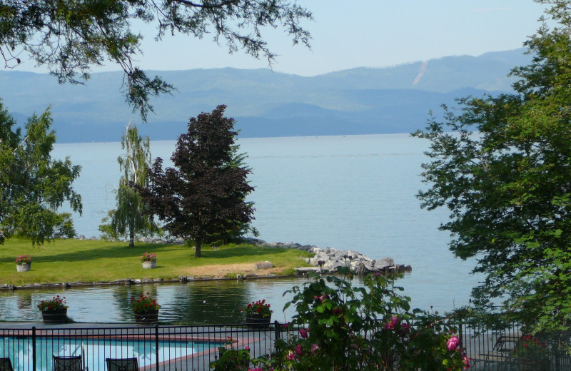 Exterior view of Averill's Flathead Lake Lodge.