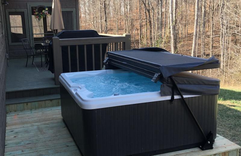 Hot Tub on Back lower level deck