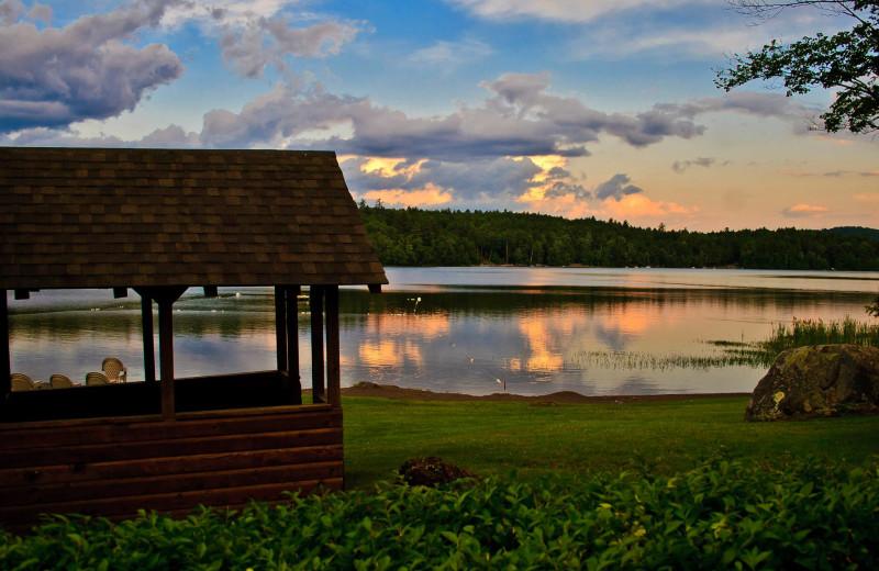 Lake view at Twin Pines Resort.