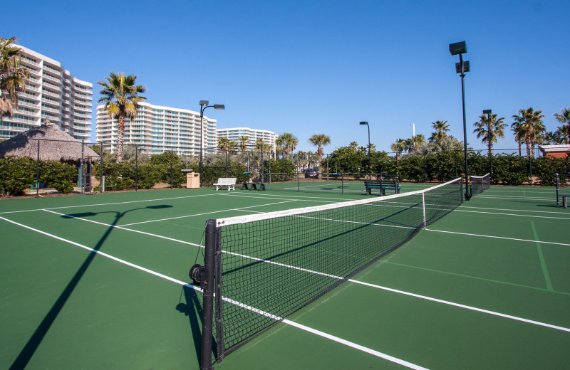 Tennis court  at Caribe Resort.