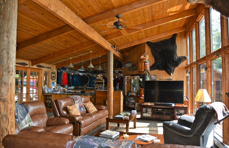 Lounge at The Fireweed Lodge.