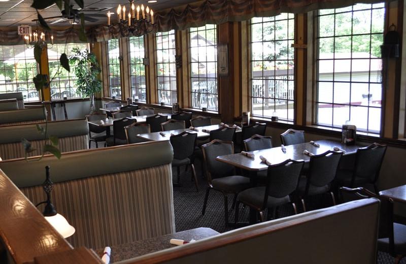 Restaurant view at Ehrhardt's Waterfront Resort.