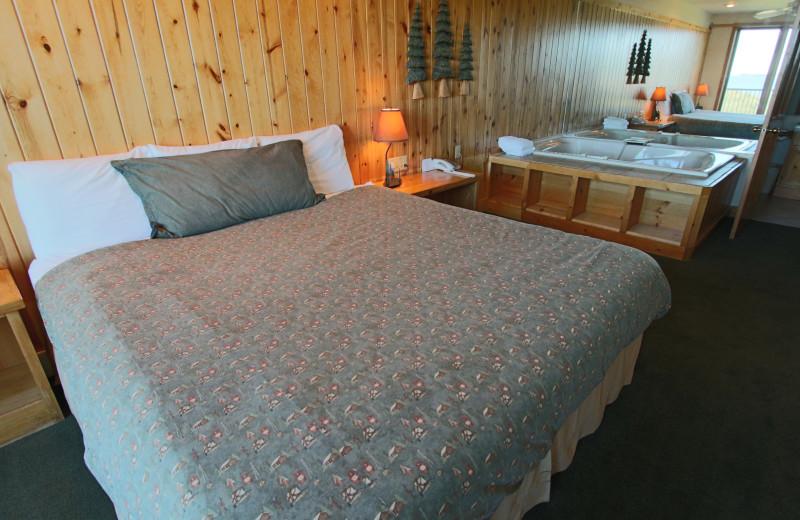 Guest bedroom at Superior Shores Resort.