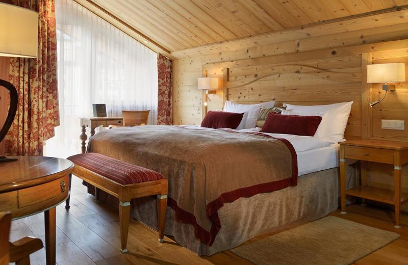 Guest room at Seiler Hotel Mont Cervin & Residence.