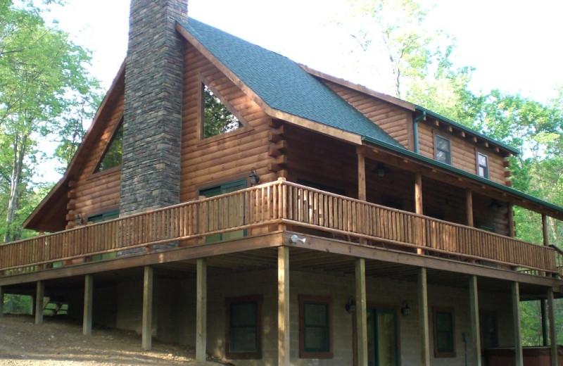 Cabin exterior at Corban Cabin Getaways.