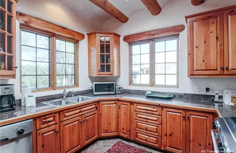 Rental kitchen at Vacation Rental Pros - Santa Fe.