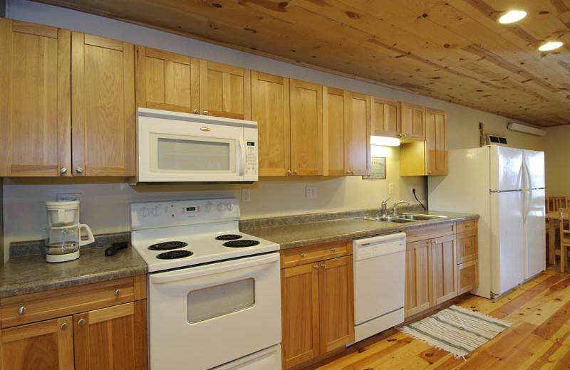 Guest kitchen at Campfire Bay Resort.
