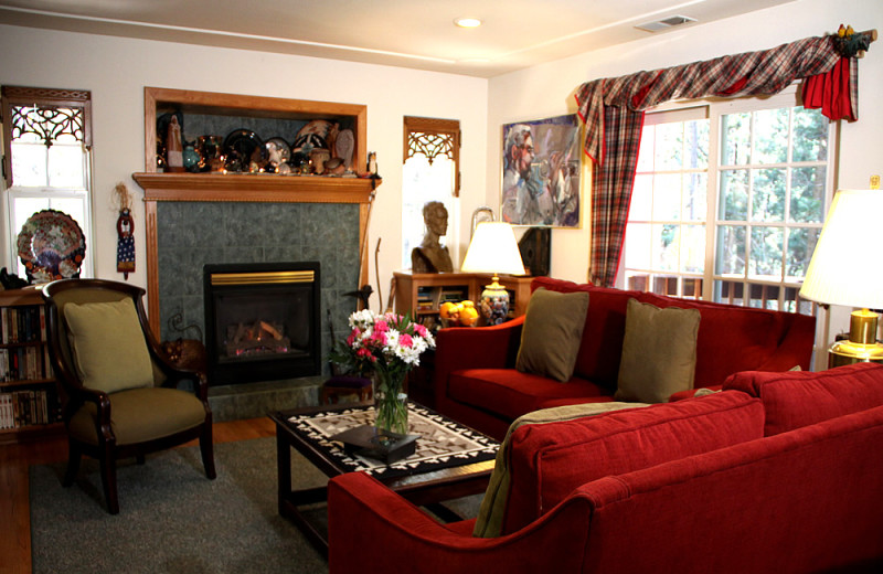 Living room at McCaffrey House Bed and Breakfast.