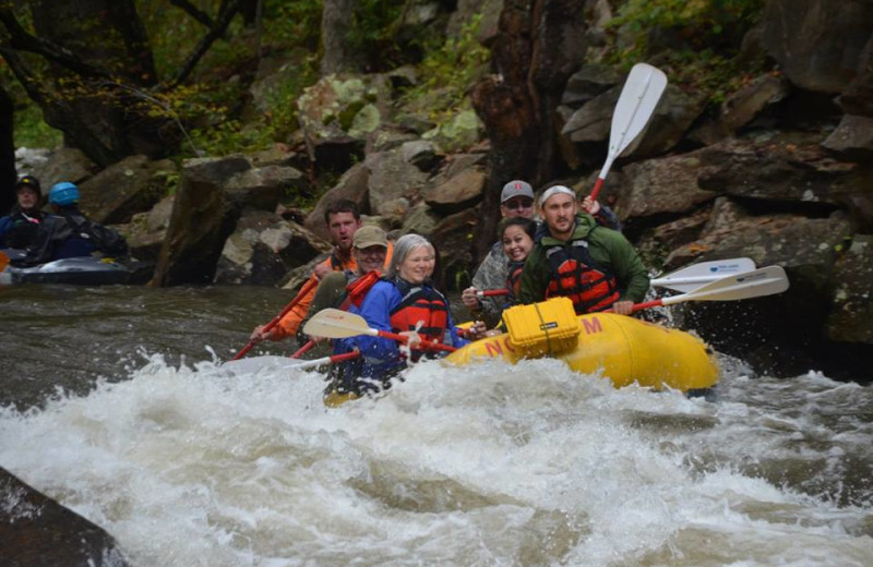 River rafting at Nantahala Village.