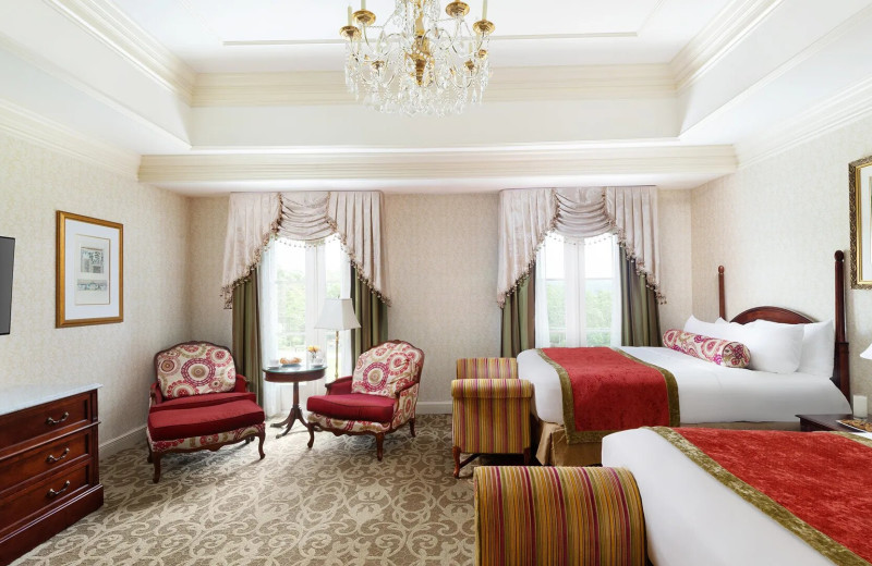 Guest room at Nemacolin Woodlands Resort.