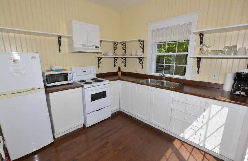 Cottage kitchen at Port Cunnington Lodge & Resort.
