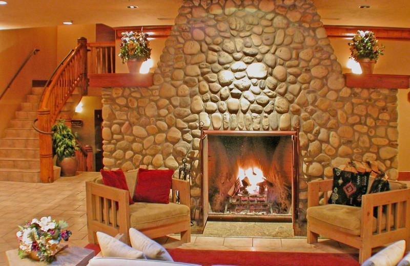 Lobby at Banff Caribou Lodge & Spa.
