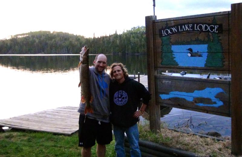 Fishing at Loon Lake Lodge.