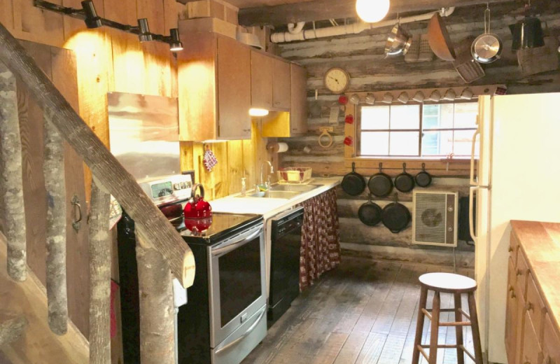 Rental kitchen at Chambers Realty & Vacation Rentals.