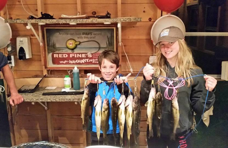 Fishing at Red Pine Wilderness Lodge.