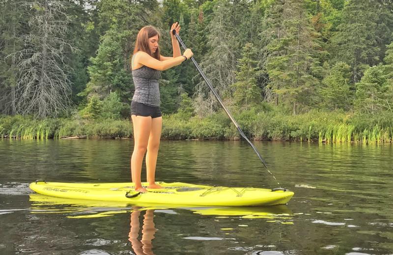 Paddle board at Killarney Lodge in Algonquin Park.