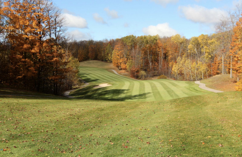Golf course at Hawk's Eye Golf Resort.