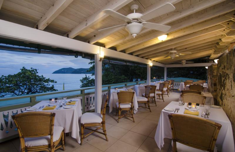 Dining at Long Bay Beach Resort & Villas.