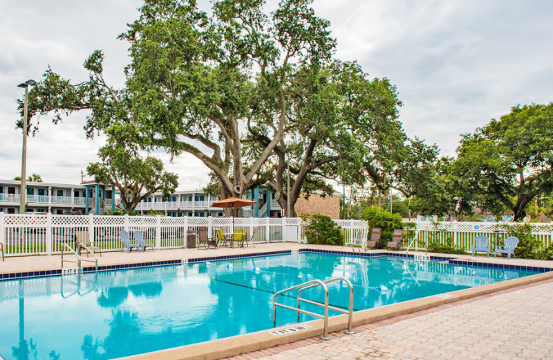 Outdoor pool at Southern Oaks Inn.