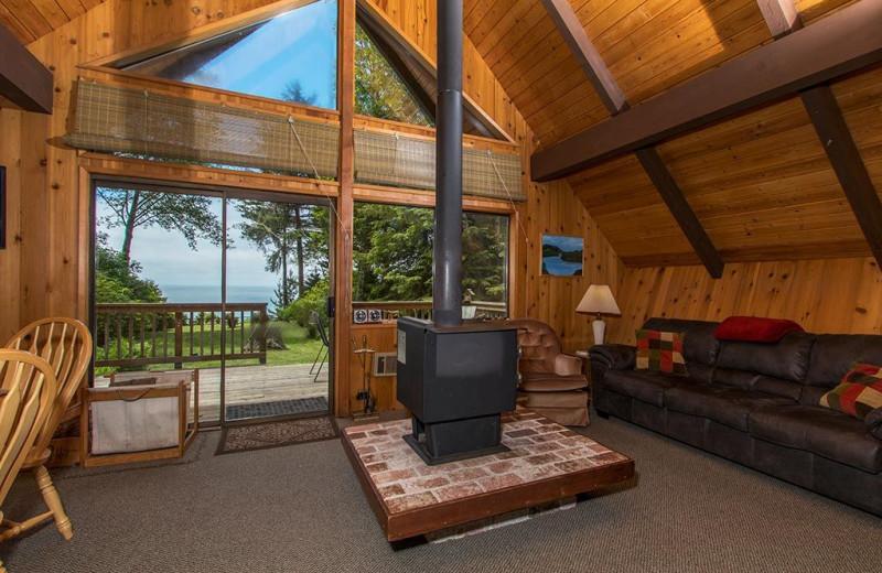 Rental living room at Trinidad Retreats.