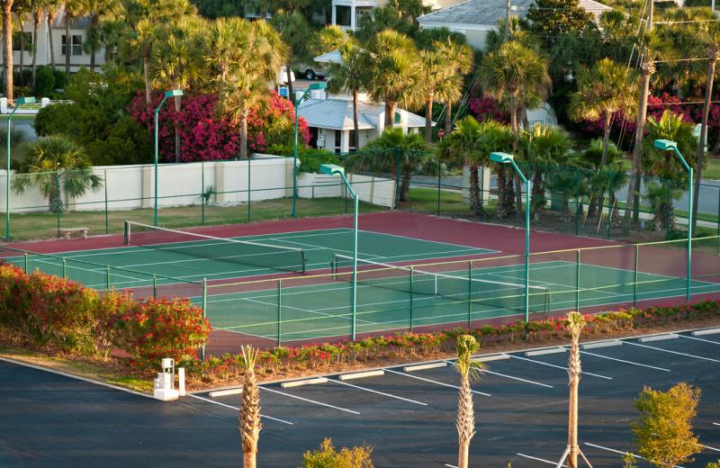 Tennis court at The Islander in Destin.
