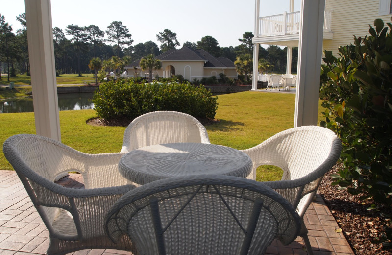 Patio view at Brunswick Plantation Resort.
