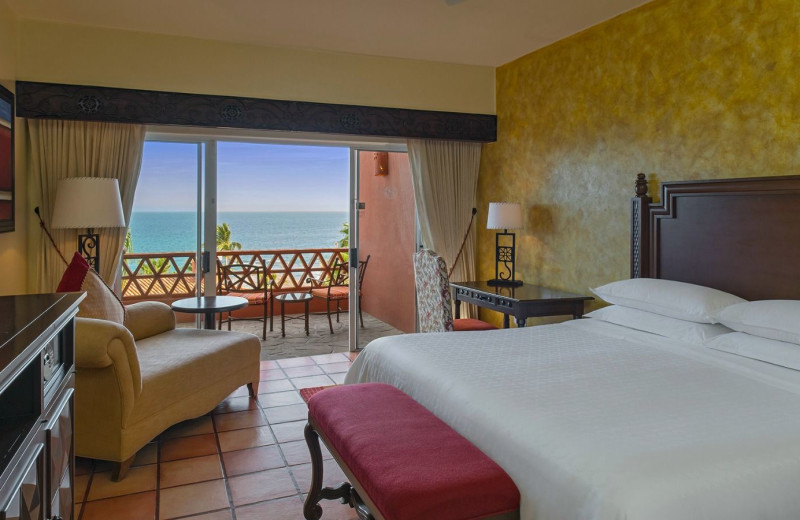 Guest room at Sheraton Hacienda del Mar Resort & Spa.