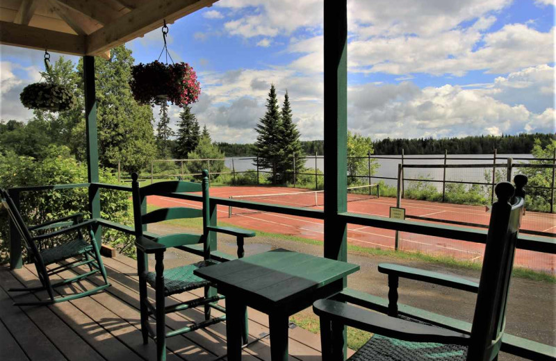 Deck view at Quimby Country Lodge & Cottages.