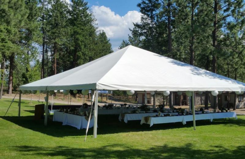 Wedding tent at Powers Creek Retreat.
