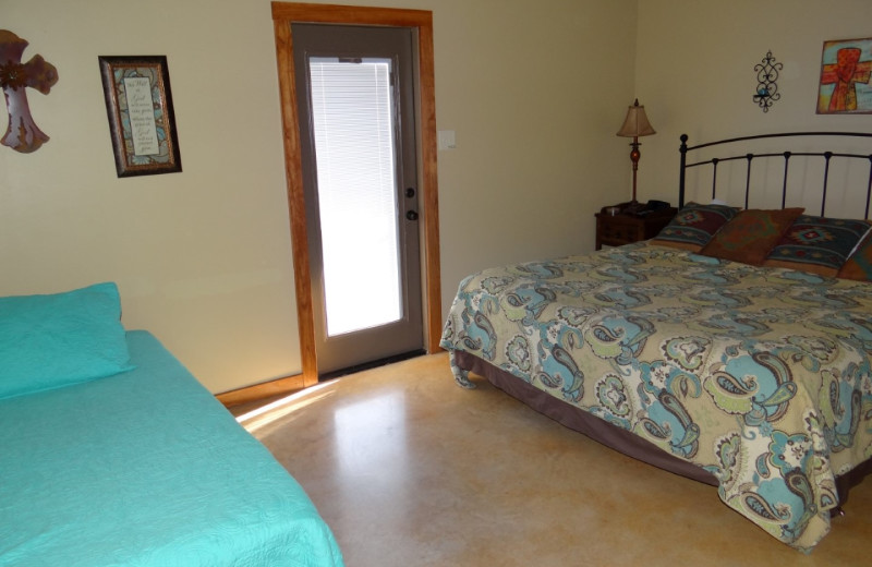 Rental bedroom at Frio River Vacation Rentals.