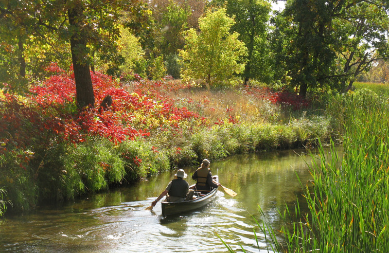 Canoeing at Thumper Pond Golf Course & Resort.
