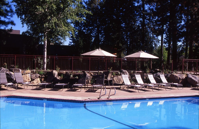 Outdoor pool at Inn of the Seventh Mountain.