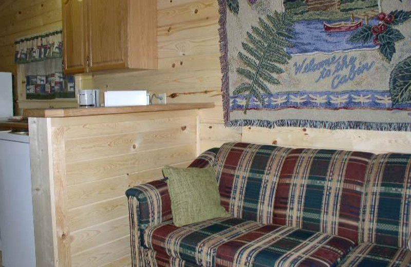 Cabin interior at Silver Beach Resort.