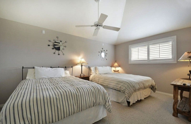 Bedroom at Serene Hill Country Home.