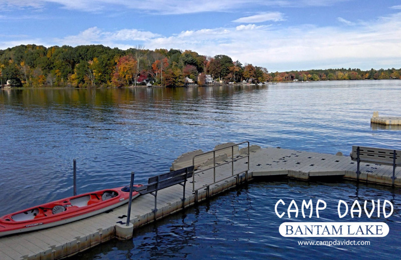 Dock at Camp David Bantam Lake.