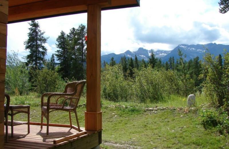 porch & view Mica cabin