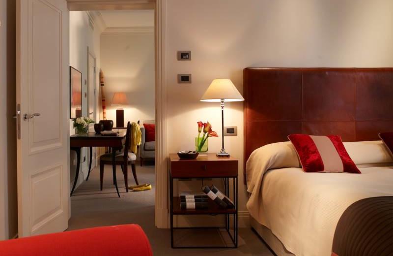 Guest suite at The Hotel Amigo.